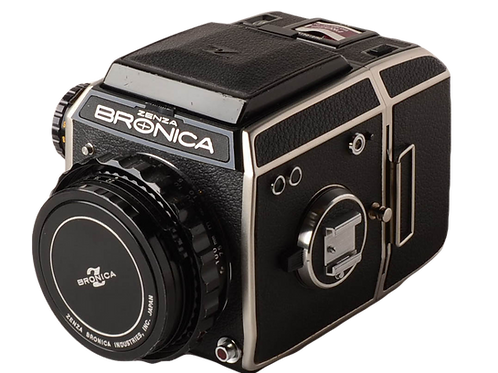 Bronica model EC 6X6cm SLR with electronic FP shutter