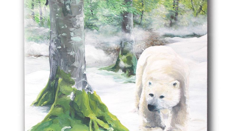 La forêt aux ours blancs - Oeuvre d'Art Unique et signée de l'Artiste