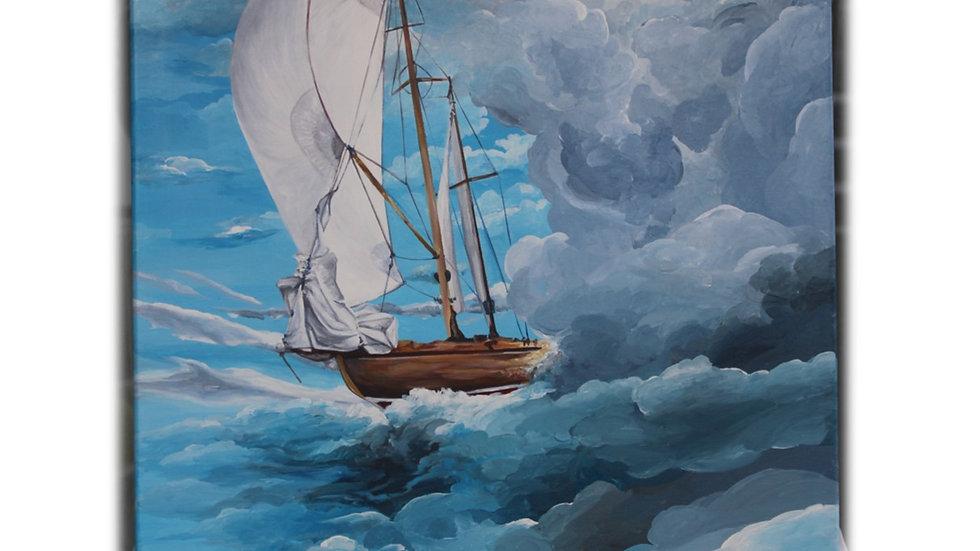 L'histoire d'un voilier - Oeuvre Unique et signée de l' Artiste