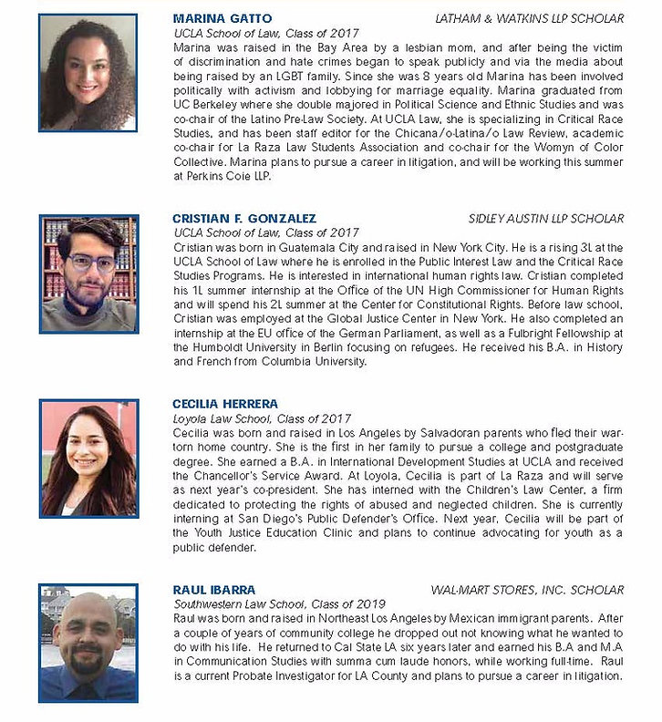List of Scholars for 2016 with headshots and short biographies, part 3