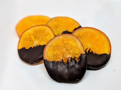 Dipped Candied Oranges