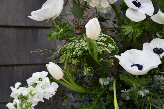 locally grown anemone bouquet