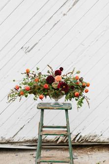 local dahlia love! Design by Jasmine And Geranium