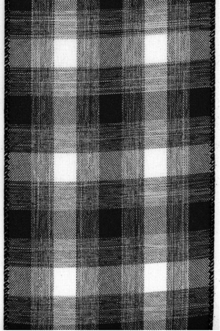 Black and White Linen Plaid