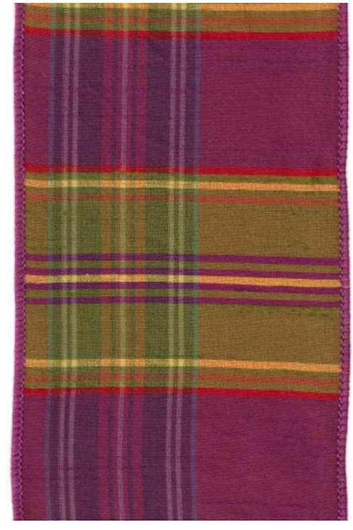 Purple and Green Dupion Plaid