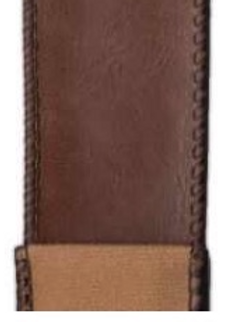 Brown Faux Leather with Camel Back