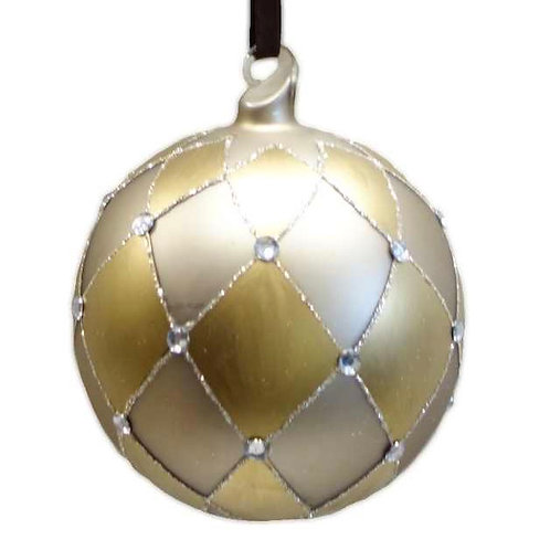Harlequin Ornament with Crystals
