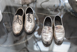 Silver Metal Miniature Shoes
