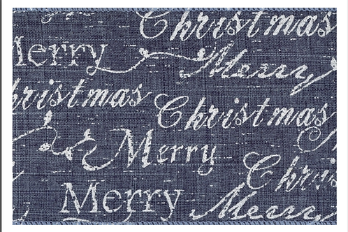 Merry Christmas on Blue - Wired
