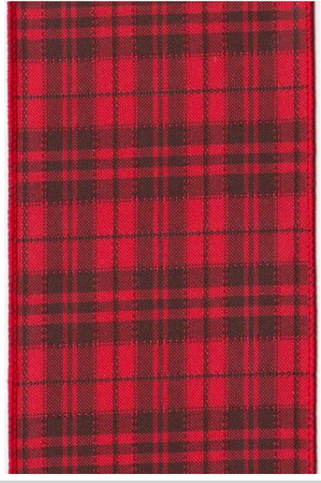 Red and Black Linen Plaid