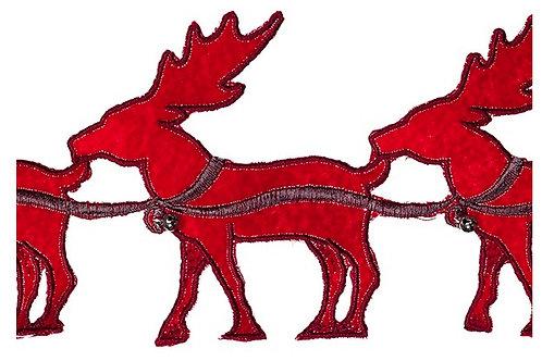 Red Reindeer Garland