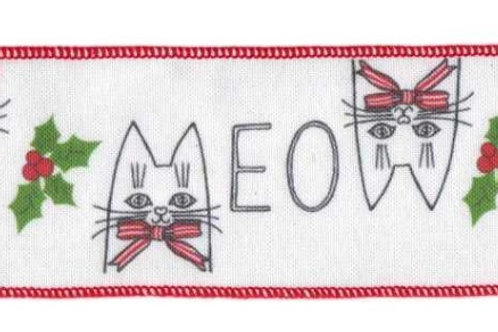 Meow Kitty Ribbon