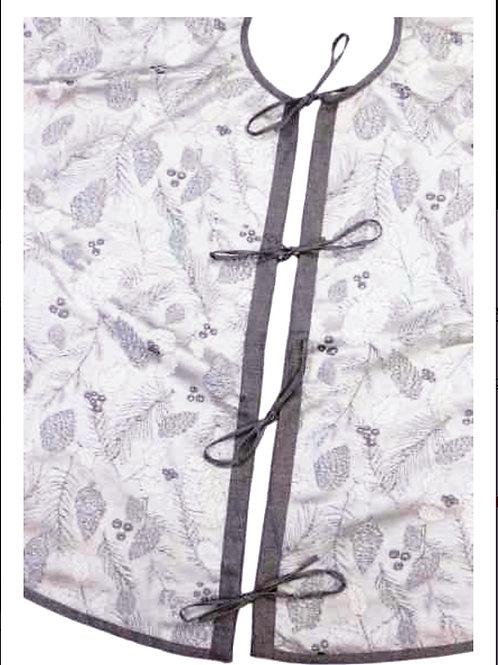 Silver Brocade Tree Skirt
