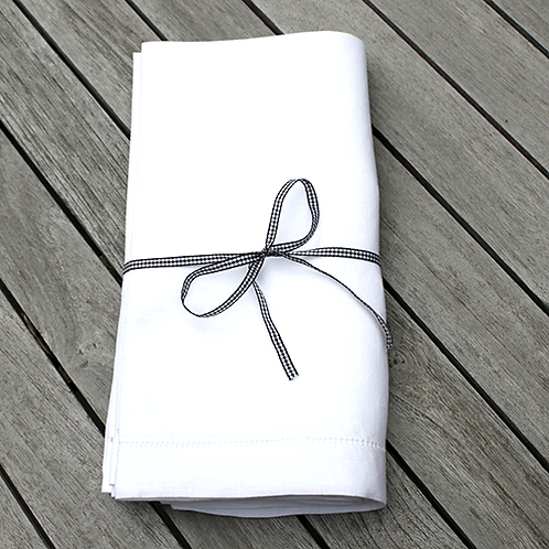 Fine Linen Hemstich Napkins - Set of 4