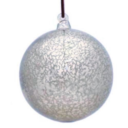 Silver Mercury Hand Made Glass Ball