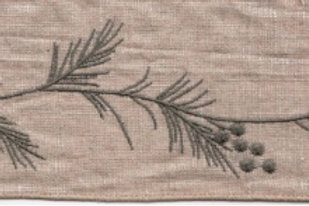 Embroidered Grey/Brown Vine