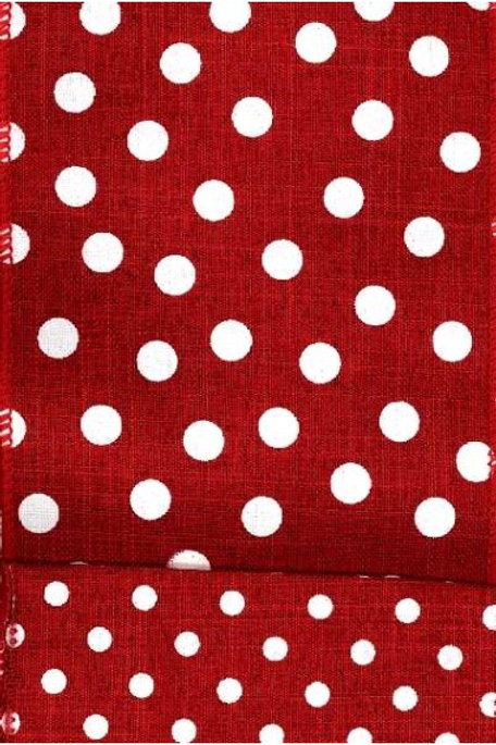 Red with White Spots with Small Spots on Back