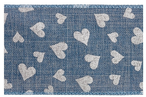 Denim with Silver Hearts