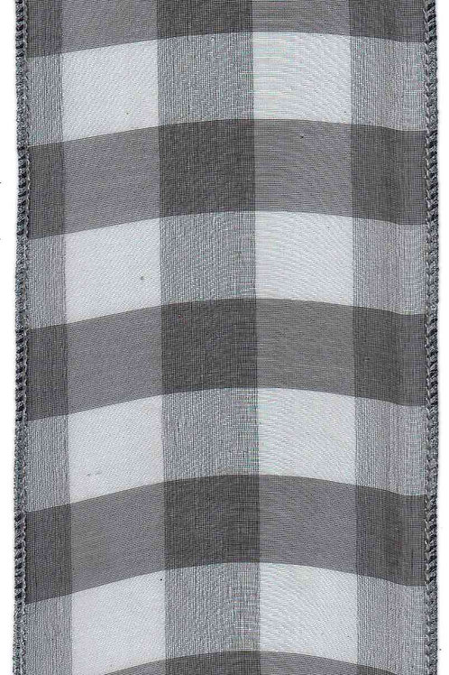 Black & Silver Sheer Plaid