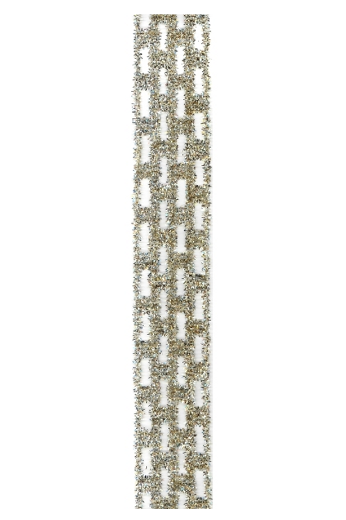 Gold & Silver Tinsel Ribbon