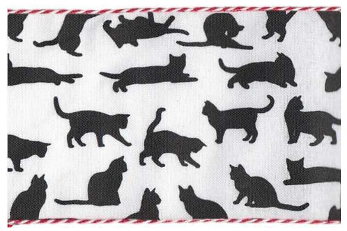 Various Cats on White with Peppermint Edge