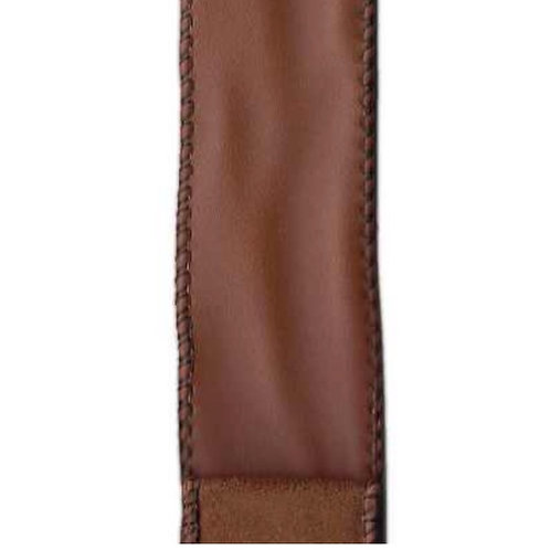 Brown Faux Leather with Suede Back