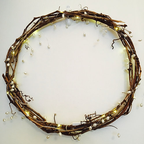 Light Up Grape Vine Wreath