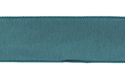 Turquoise Dupion Blue Back