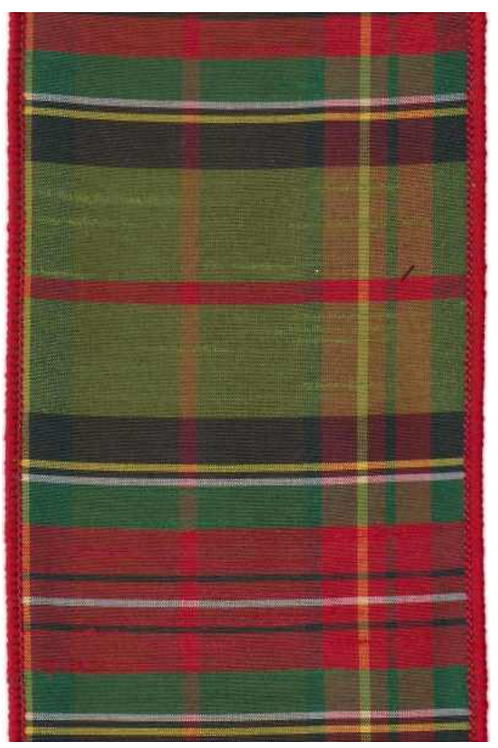 Moss Green Dupion Plaid