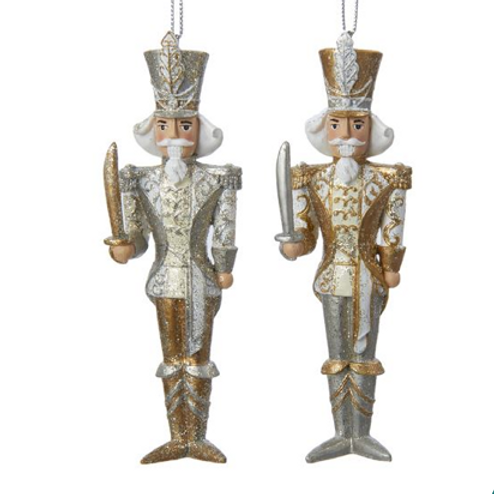 Kurt Adler Two-Tone Nutcracker Ornaments