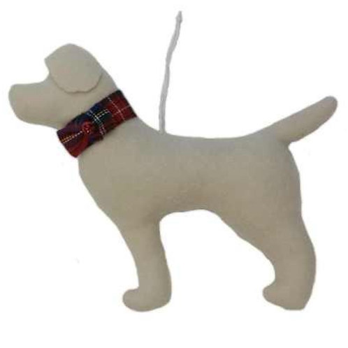 Beige Dog Ornament