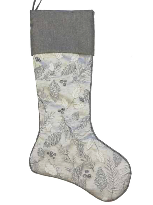 Berry & Holly Jacquard Stocking
