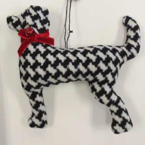 Houndstooth Dog Ornament