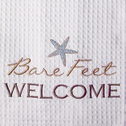 """Bare Feet Welcome"" Towel"
