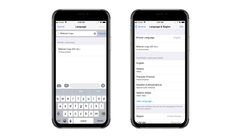 Phone Language Add-on
