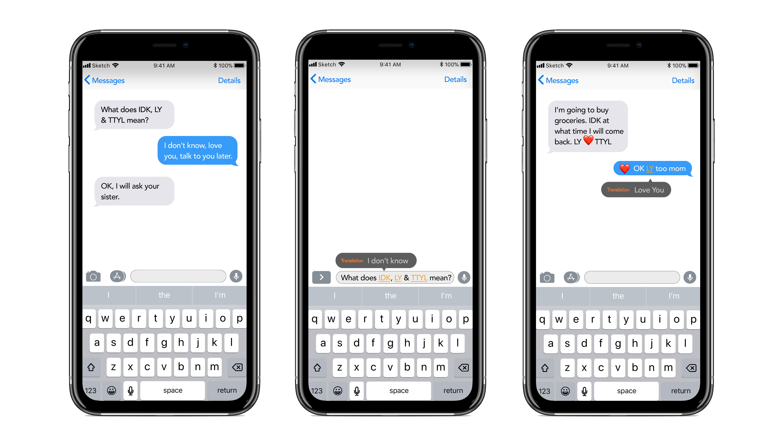 Phone Language Add-on Example
