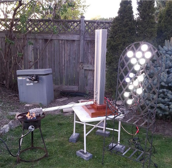 80W ThermoElectric Generator powered by