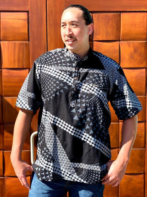 Aloha Pull-Over Mandarin Collar