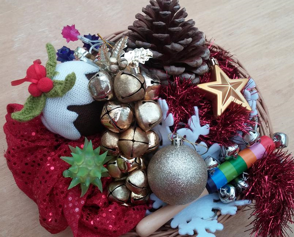Making a Christmas Sensory Basket