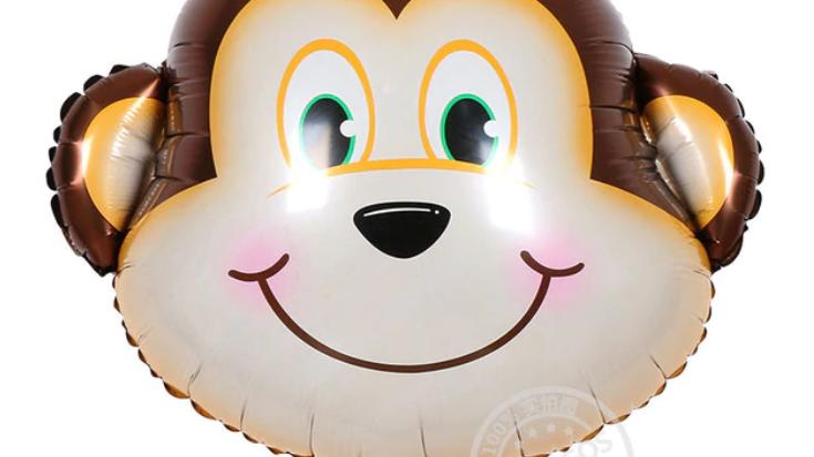 Small Monkey Balloon and Stick