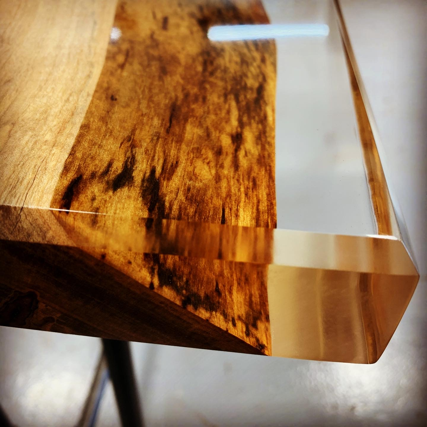 Maple in Clear Epoxy