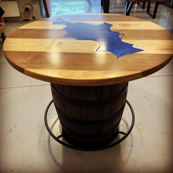 Pub Table By The Lake