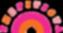 thefitista logo pink and orange rainbow logo mark