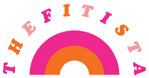 thefitista logo pink and orange rainbow logo mark