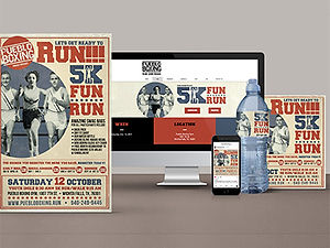 Pueblo Boxing poster, website, and brand mock up