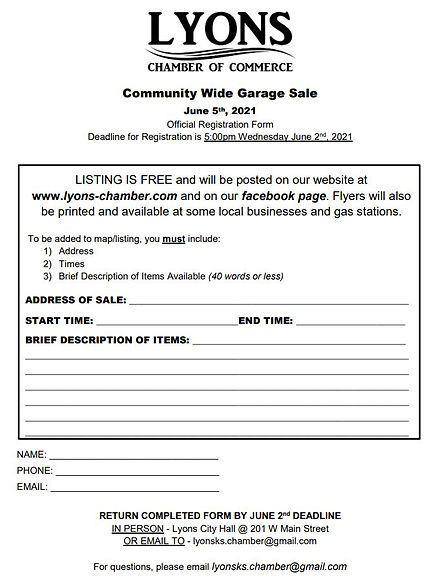Community Wide Garage Sale 2021 Registra