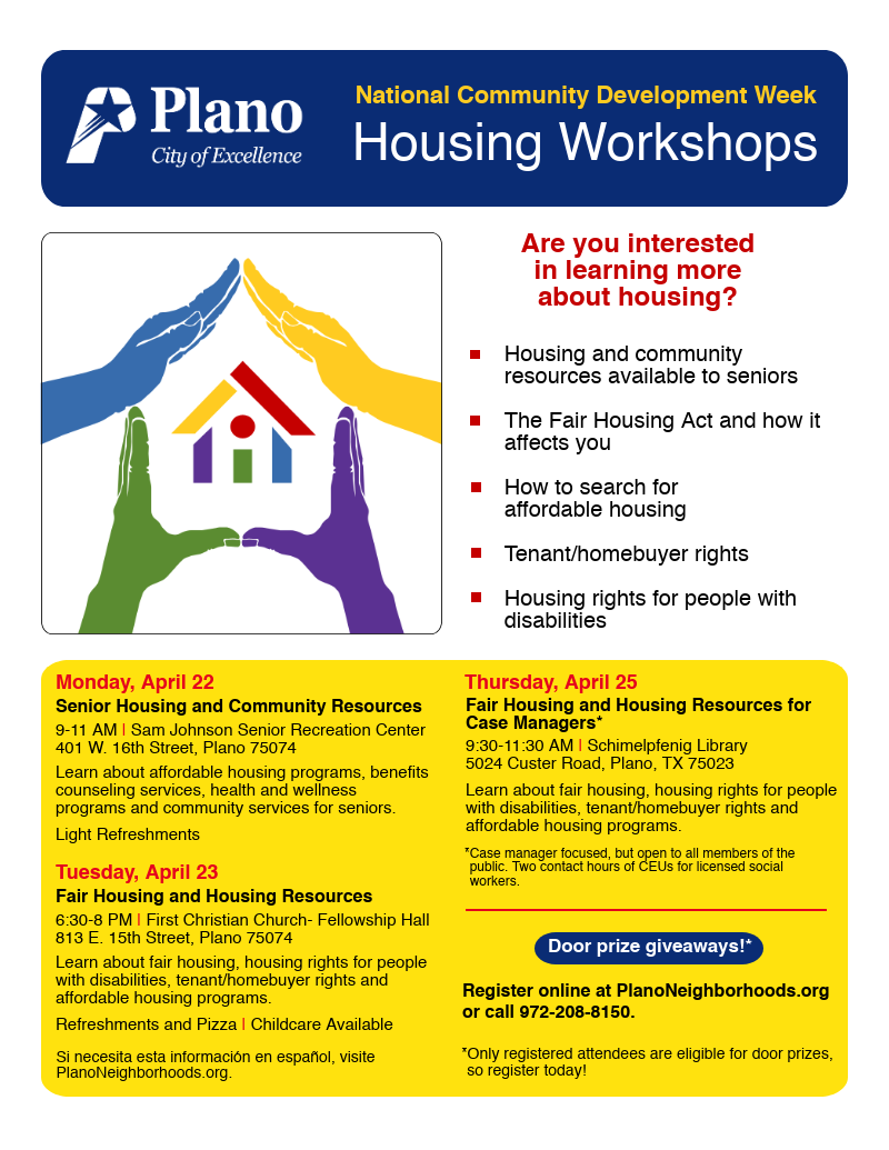 Registration - City of Plano Housing Workshops Survey