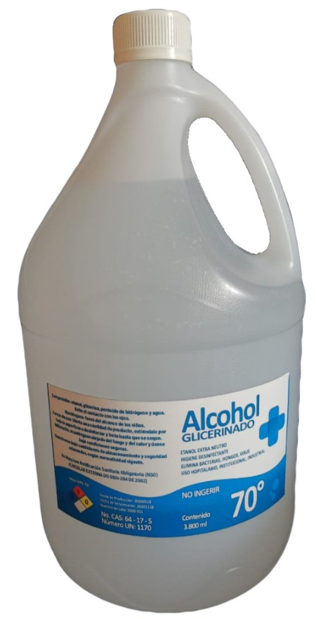 alcohol con fondo