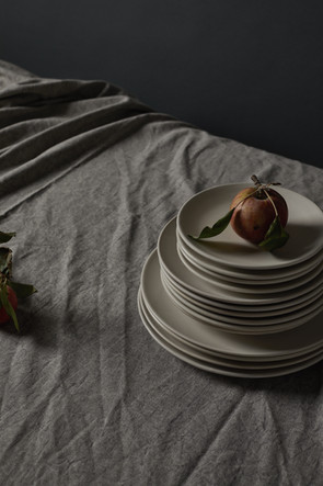 The Good Plate Collection in satin white.