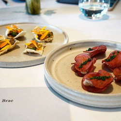 Lunch _braerestaurant. Plates by us _cone11ceramics with clay dug from the Brae dam.jpg